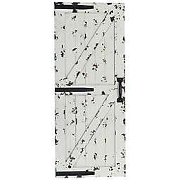 White Barn Door 16-Inch x 39-Inch Wall Art