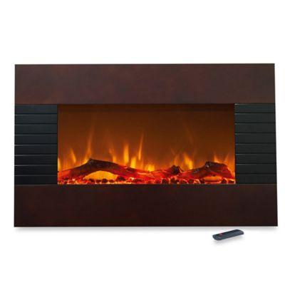 Northwest Freestanding Mahogany Electric Fireplace Heater
