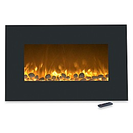 Northwest Color-Changing Electric Fireplace Heater in Black