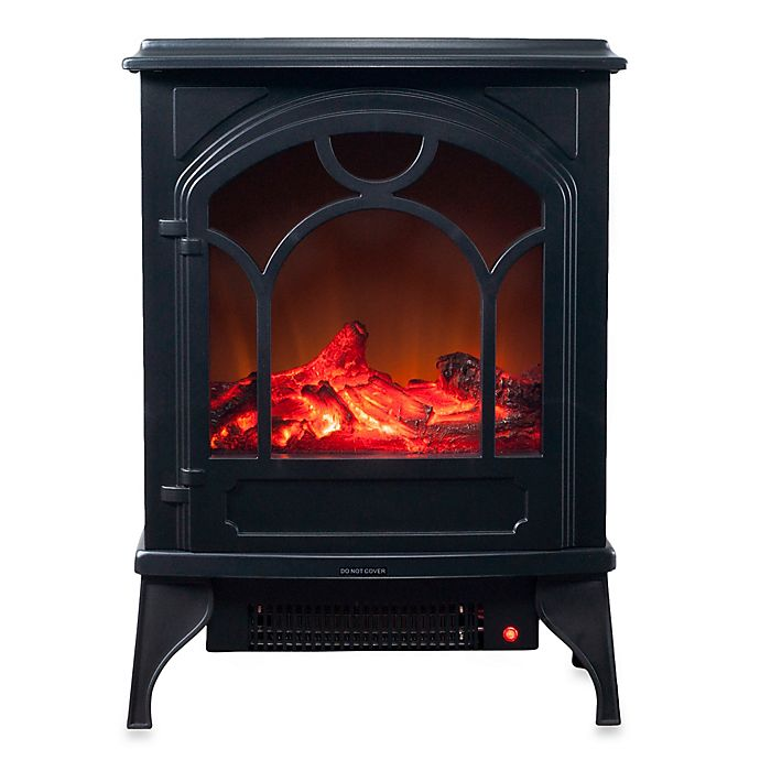 Alternate image 1 for Northwest Electric Log Fireplace Heater in Black