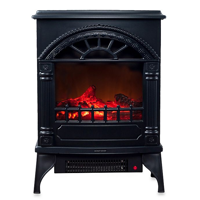 Northwest Freestanding Electric Log Fireplace Heater in ...