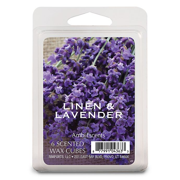 Alternate image 1 for AmbiEscents™ Linens and Lavender 6-Pack Wax Fragrance Cubes