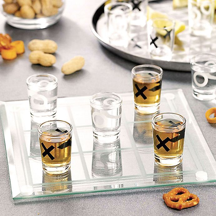 Alternate image 1 for Tic Tac Toe Shot Glasses (Set of 9)
