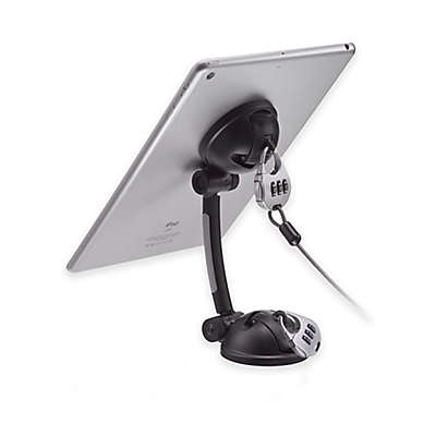 CTA Digital Suction Mount Stand with Theft Deterrent Lock for Tablets/Smartphones