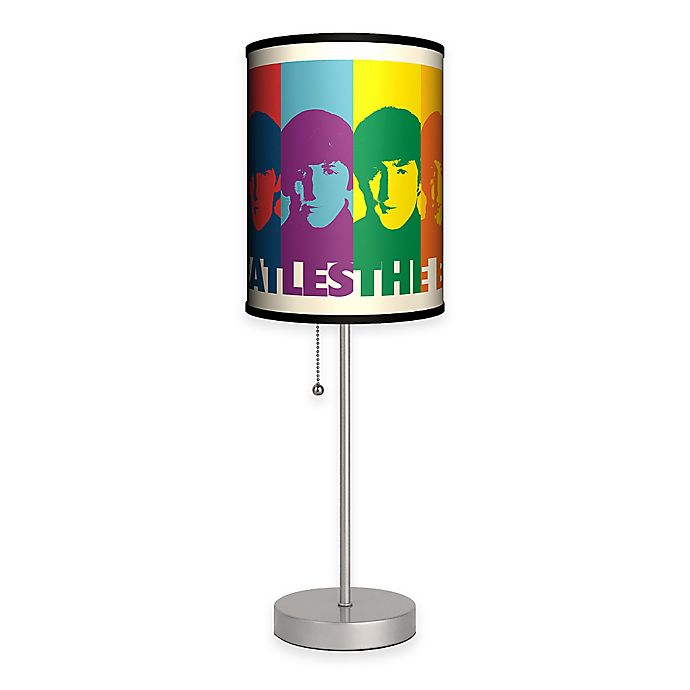 Alternate image 1 for The Beatles Faces Table Lamp with Matte Silver Base and CFL Bulb