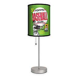 Topps™ Baseball 1962 Bubble Gum Wrapper Table Lamp in Silver with Fabric Shade