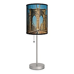 Brooklyn Bridge Color Table Lamp with Matte Silver Base