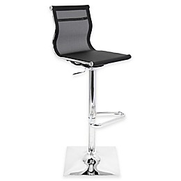 LumiSource Mirage Bar Stool in Black