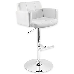 The LumiSource Stout Bar Stool in White