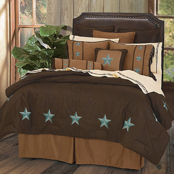 Alternate image 1 for HiEnd Accents Laredo Twin Comforter Set in Turquoise