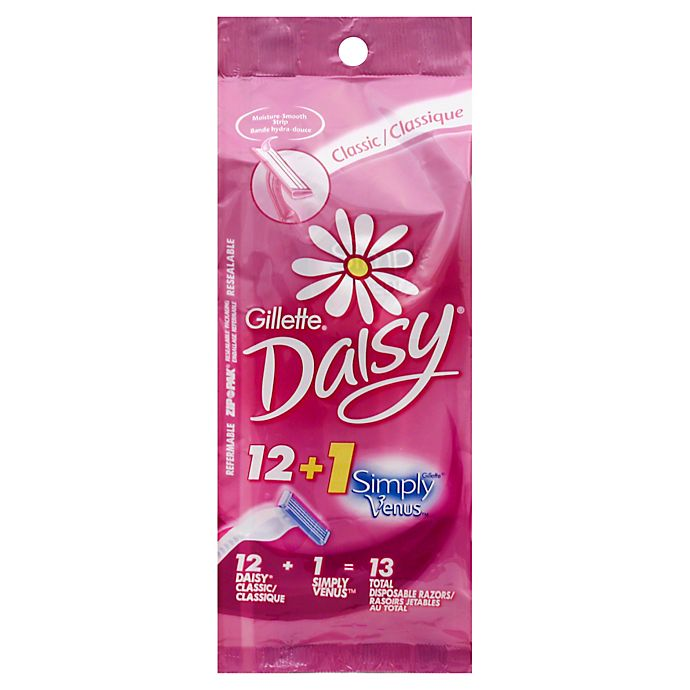 Alternate image 1 for Gillette® 12-Count Daisy Classic Disposable Women's Razors + 1 Simply Venus Pink Razor
