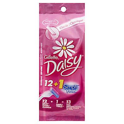 Gillette® 12-Count Daisy Classic Disposable Women's Razors + 1 Simply Venus Pink Razor