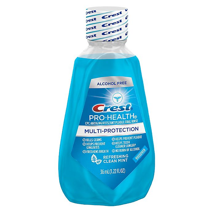 Alternate image 1 for Crest® 1.22 oz. Pro-Health Multi-Protection Mouthwash in Refreshing Clean Mint