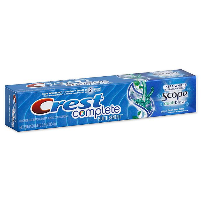 Alternate image 1 for Crest® Complete 5.8 oz. Whitening + Scope DualBlast Mint Toothpaste