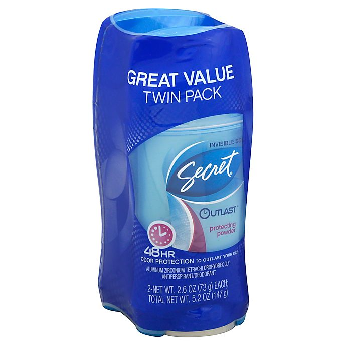 Alternate image 1 for Secret® Outlast™ 2-Count Invisible Solid Antiperspirant and Deodorant in Protecting Powder