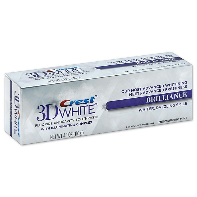 Alternate image 1 for Crest® 3D White 4.1 oz. Brilliance Teeth Whitening Toothpaste in Vibrant Peppermint