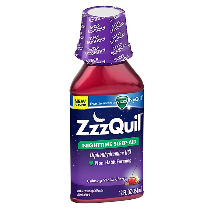 Alternate image 1 for Vicks® ZzzQuil™ 12 oz. Nighttime Sleep-Aid Liquid in Calming Vanilla Cherry