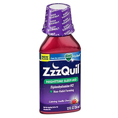Vicks® ZzzQuil™ 12 oz. Nighttime Sleep-Aid Liquid in Calming Vanilla Cherry