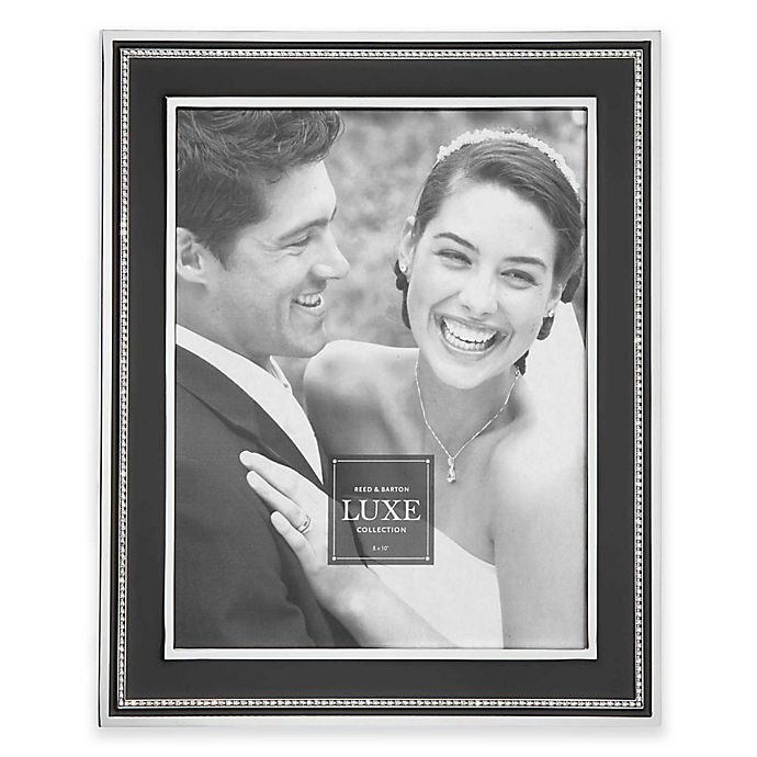 Alternate image 1 for Reed & Barton® Luxe Collection Facets Picture Frame in Black/Chrome