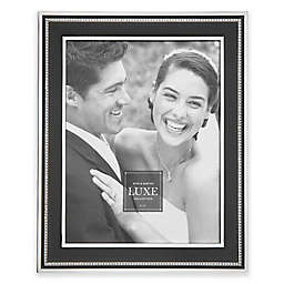 Reed & Barton® Luxe Collection Facets Picture Frame in Black/Chrome