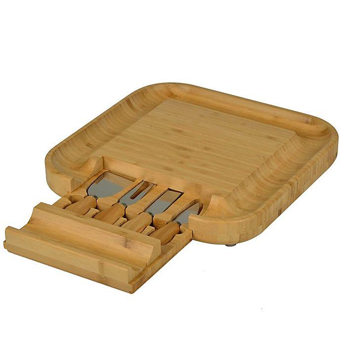Alternate image 1 for Picnic At Ascot  Malvern Bamboo Cheese Board Set