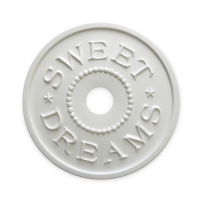 Alternate image 1 for Marie Ricci Collection™ Sweet Dreams Ceiling Medallion in White