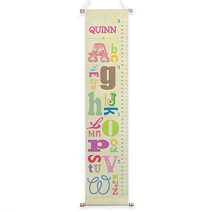 Alternate image 1 for Girl Alphabet Growth Chart