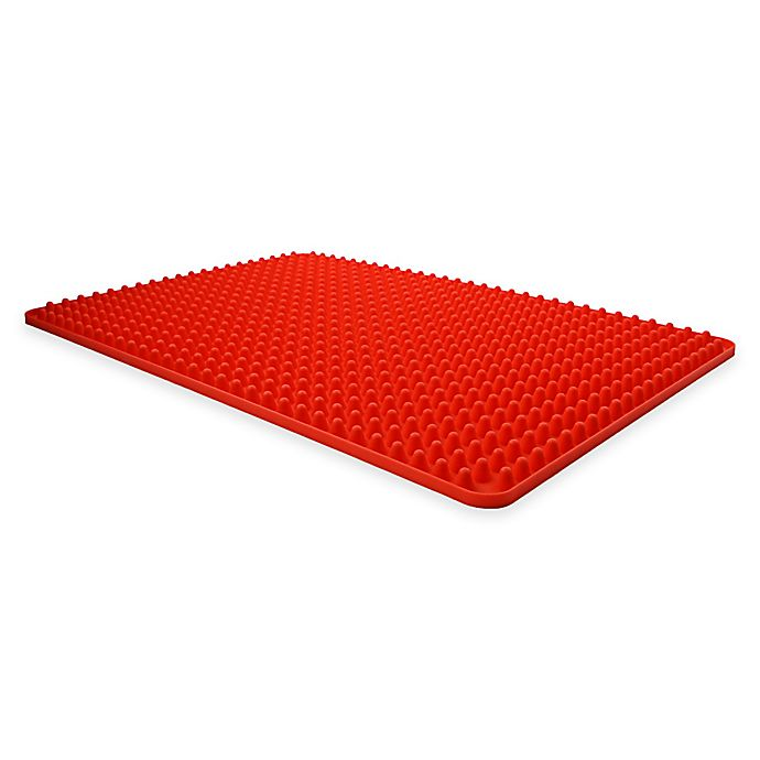 Alternate image 1 for Dexas® Elevated Silicone Cooking Mat in Red