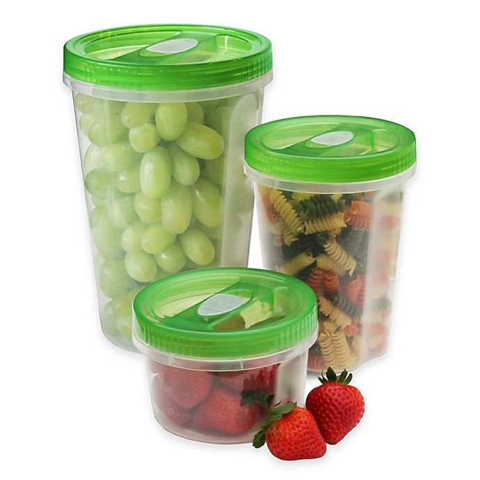 Alternate image 1 for Gourmet Solutions® 6-Piece Twister Food Storage Set