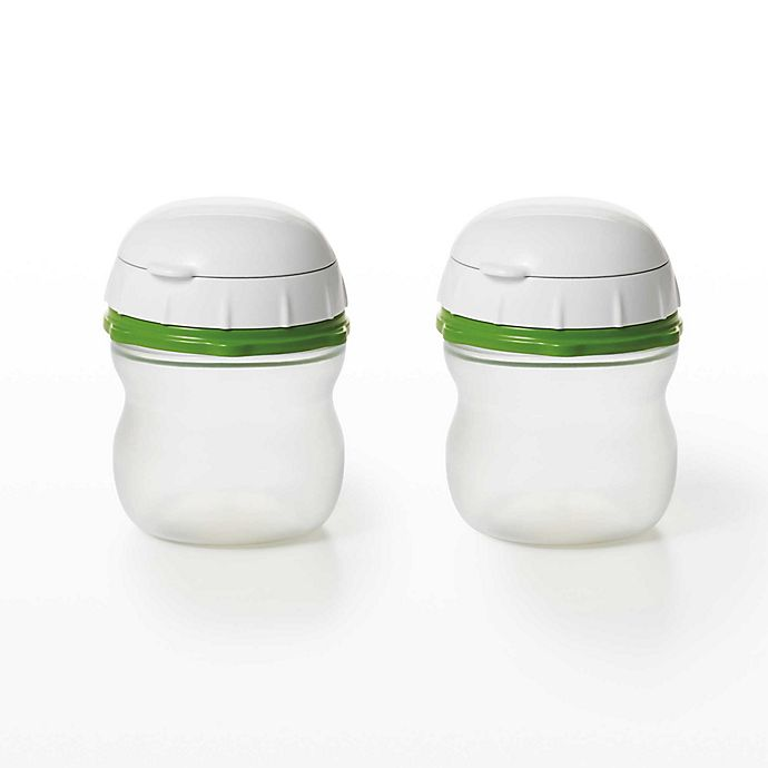 Alternate image 1 for OXO Good Grips® On-The-Go Silicone Squeeze Bottle (Set of 2)