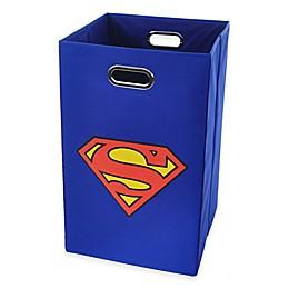 Modern Littles Superman Folding Laundry Bin in Blue