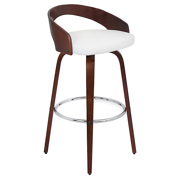 Buy Lumisource Grotto Barstool In Cherry White From Bed