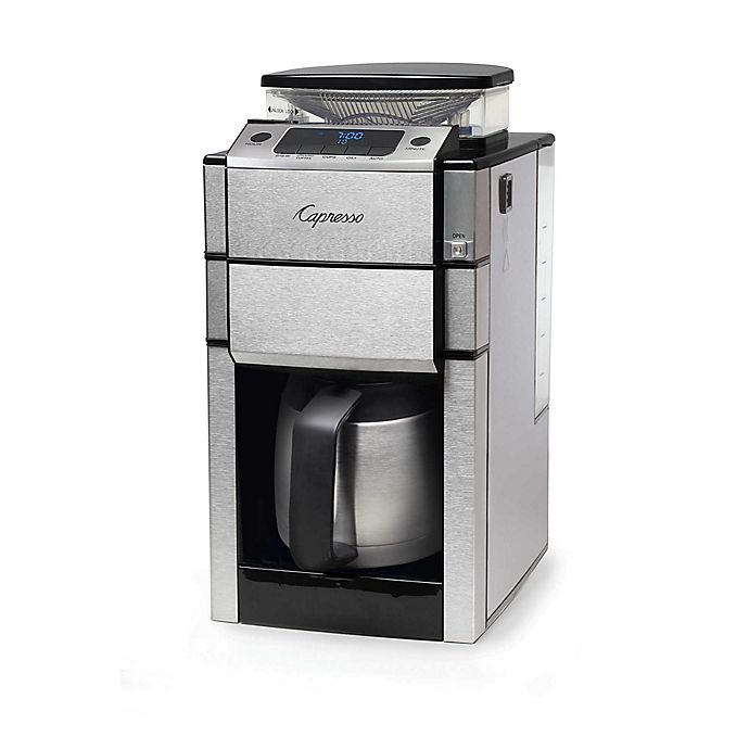 Alternate image 1 for Capresso® Coffee TEAM PRO Plus 10-Cup Thermal Coffee Maker and Grinder in Stainless Steel