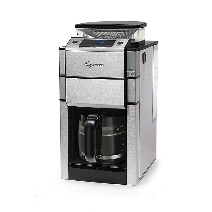 Alternate image 1 for Capresso® Coffee TEAM PRO Plus 12-Cup Coffee Maker with Grinder