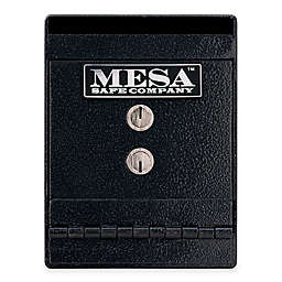 Mesa Safe Company Steel Horizontal Under Counter Depository Safe in Black