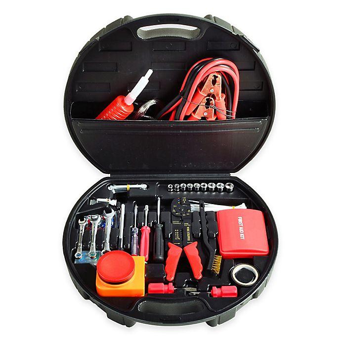 Alternate image 1 for Deluxe Roadside 132-Piece Emergency Kit