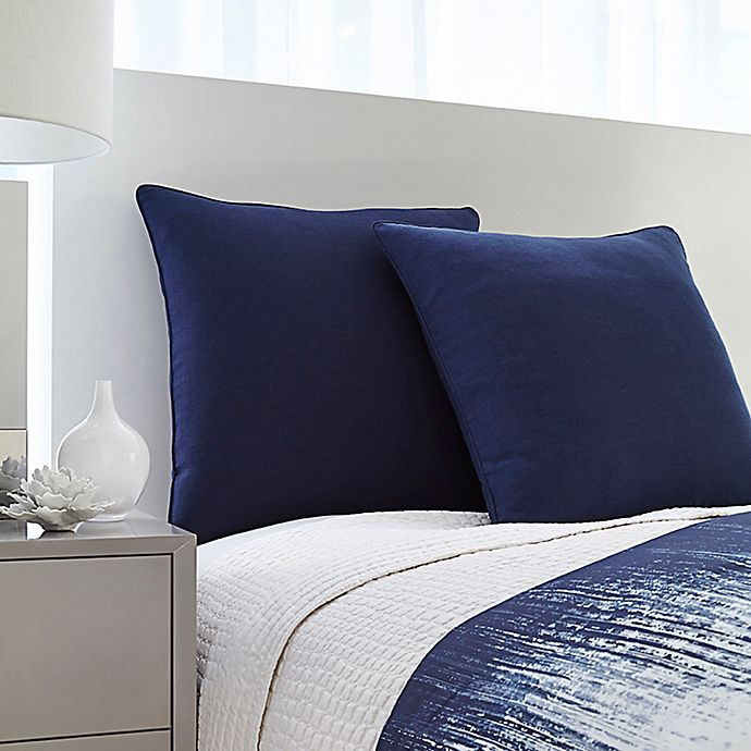 Alternate image 1 for Vince Camuto® Lyon European Pillow Sham in Blue