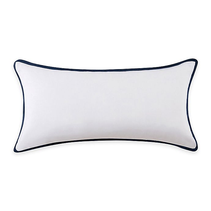 Vince Camuto 174 Lyon Signature Bolster Throw Pillow In White