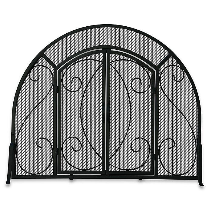 Groovy Uniflame S 1062 Black Wrought Iron Single Panel Fireplace Download Free Architecture Designs Photstoregrimeyleaguecom