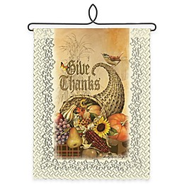 """Heritage Lace® """"Give Thanks"""" Cornucopia Wall Hanging in Café"""