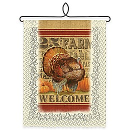 """Heritage Lace® """"Welcome"""" Turkey Wall Hanging in Café"""