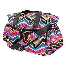 Trend Lab® Modern Multi Chevron Duffle Diaper Bag in Multicolor