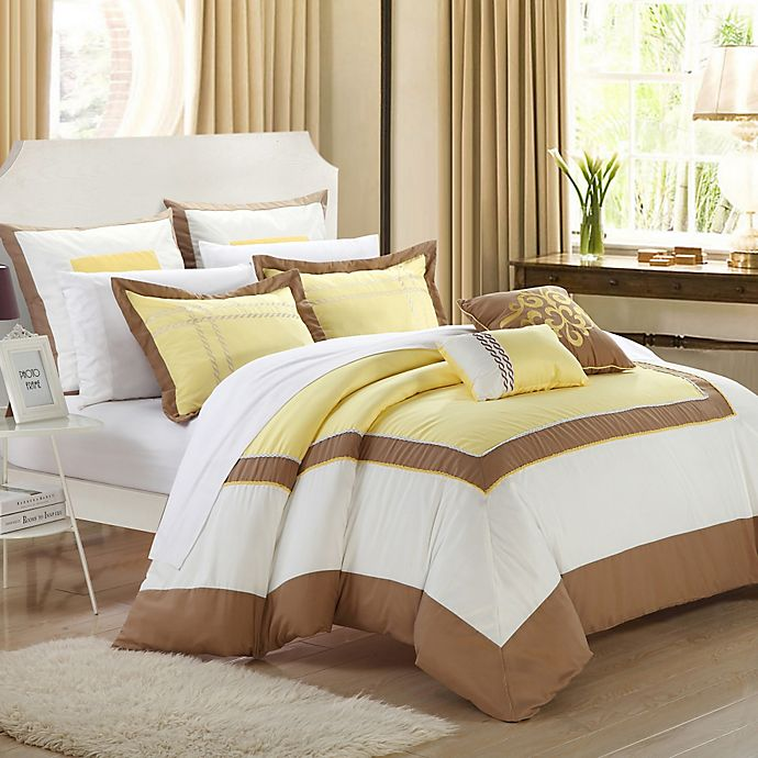 Alternate image 1 for Chic Home Ballroom 7-Piece Comforter Set in Yellow