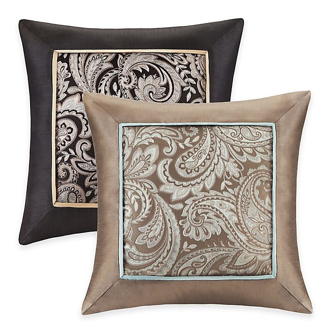 Alternate image 1 for Madison Park Aubrey Square Throw Pillows (Set of 2)