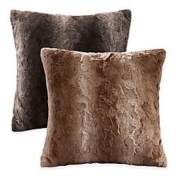 Madison Park Zuri Faux-Fur Reversible Square Throw Pillow