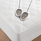 Beautyrest Cotton Blend Heated King Mattress Pad in White