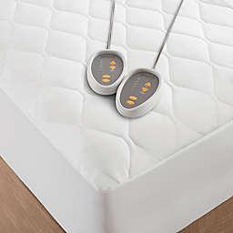Beautyrest Cotton Blend Heated Mattress Pad in White
