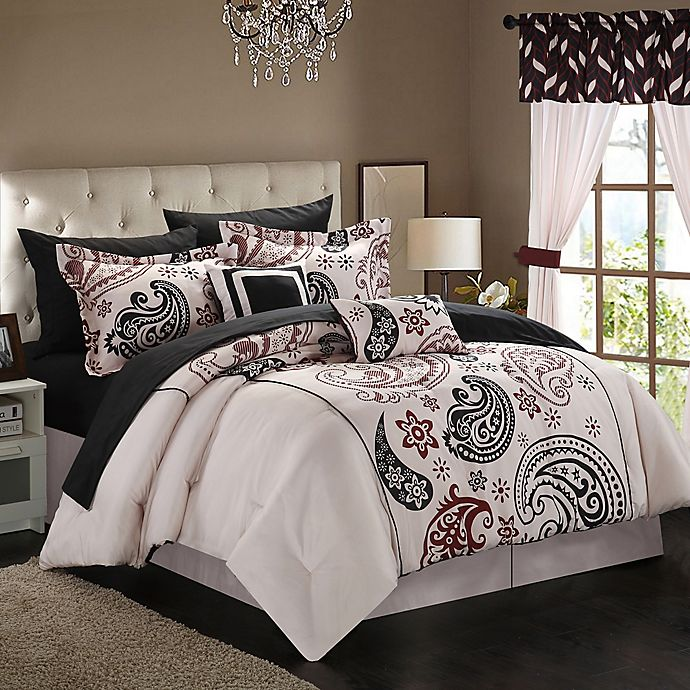 Alternate image 1 for Chic Home Olivia Paisley 20-Piece Reversible Comforter Set