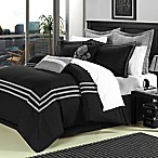 Chic Home Cosmo 8-Piece King Comforter Set in Black
