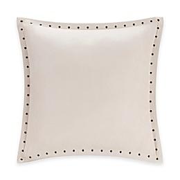 Madison Park Alban Stud Trim Microsuede Square Throw Pillow